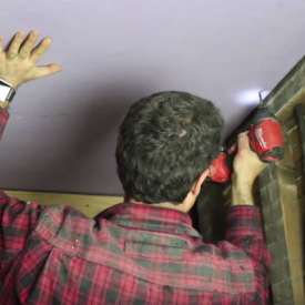 Hang Drywall Ceiling by Yourself With This Simple Trick