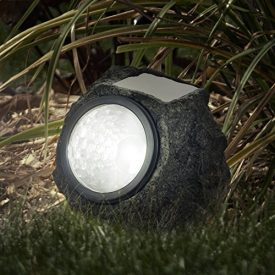 Pure Garden 50-21 Solar Rock Landscaping Lights (Set of 4)