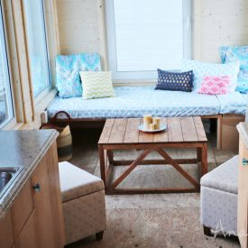 Coffee Table Converts to Dining Table from Wild Rose Tiny House