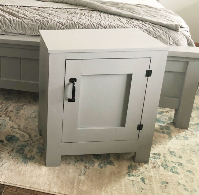 Cabinet Style Farmhouse Nightstand with Door