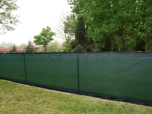 "6′ x 50′ Privacy Fence Screen Dark Green w/ brass grommets (actual size 5'8""x50′)"