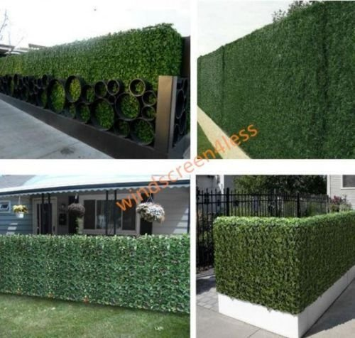 39″tall X136.5″ Long Faux Artificial Ivy Leaf Privacy Fence Screen Decoration Panels Windscreen Patio Yard Lawn